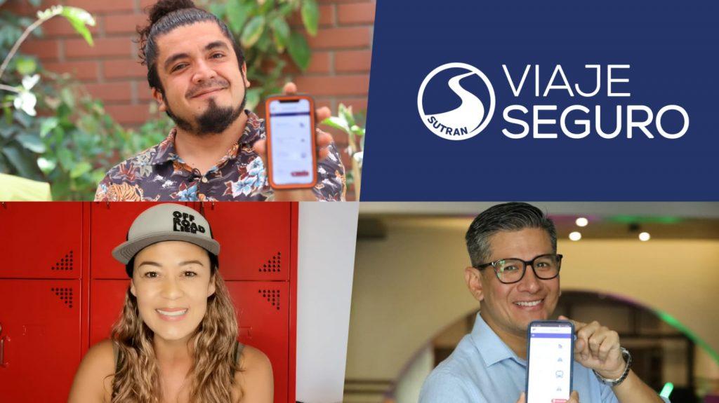 """SUTRAN: Reconocidos personajes se suman a iniciativa digital """"VIAJE SEGURO"""""""