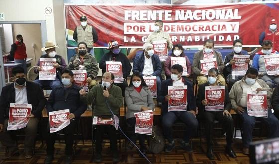 Convocan a paro nacional para exigir proclamación de Pedro Castillo
